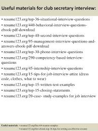 Resume Sample For Secretary Top 8 Club Secretary Resume Samples