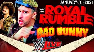 BAD BUNNY BOOKER T Royal Rumble 2021 | WWE VENDE playera conmemorativa de Bad  Bunny - YouTube