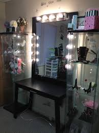 black makeup vanity with drawers. desk with drawers bedroom vanities mirrors and lights modern w indoor makeup vanity mirror black table