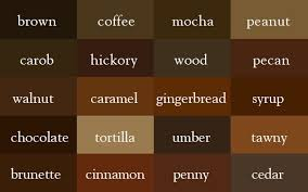 The Color Thesaurus Brown Shades Color Shades Color Names