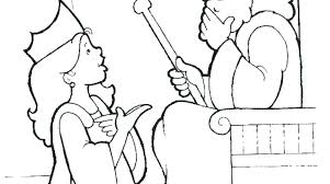 Esther Coloring Page Queen Coloring Page 0 Free Queen Esther