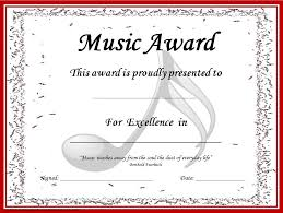 Piano Certificate Template Music Awards Editable Music Award Certificates Teaching Music
