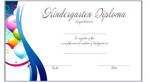 Certificate Template Free Printable Word Excel Kindergarten Diploma
