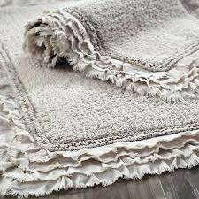 farmhouse style rugs farmhouse bathroom rugs frayed edge dove gray bath rug farmhouse style bathroom rugs