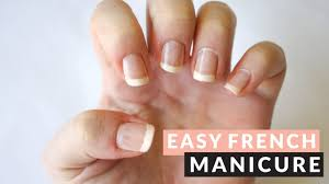 TUTORIAL | Easy French Manicure ♡ TAPE NAIL ART - YouTube