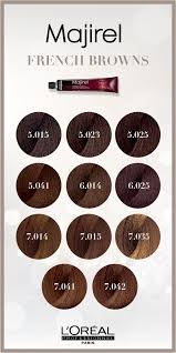 Majirel Color Chart 2019 Majirel French Brown Hair Color Is Permanent And Allows You