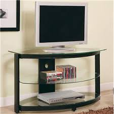 details contemporary metal and glass media console