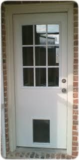 exterior door with window and dog door. exterior door with built in pet - xpd50 series window and dog e