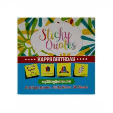 Happy Birthday Sticky Notes Celebration Quotes 24 Pads Amazon
