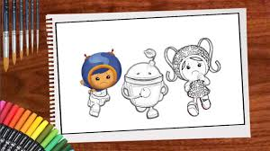 Small Picture Team Umizoomi Coloring Pages For Kids Teach Drawing and Coloring