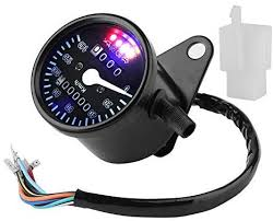 <b>Motorcycle</b> ATV <b>Dual Odometer Speedometer</b> Gauge LED Digital ...