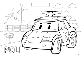 900x643 robocar poli poli friendly car coloring page