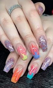 Neon Nail Designs Pinterest Pinterest Joniwhite219 Gel Nails Nails Cute Acrylic Nails