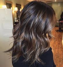 Hairstyles Shaggy Dark Hair With Caramel Highlights Remarkable