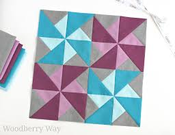 Woodberry Way: Cirrus Solids Quilt Block Pattern & ... solids in the same colors, and we're sharing the patterns for them. I  made this jaunty little double pinwheel block- I hope you have fun with it! Adamdwight.com