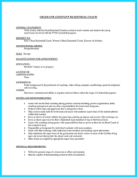 Head Basketball Coach Cover Letter Resume Coaching Samples Basketball Coach Cover Letter And S Jmcaravans