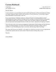 Best Master Teacher Cover Letter Examples Livecareer For Masters