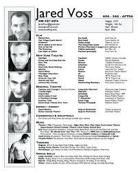 Performing Arts Cv Template Resume Template Acting Resume