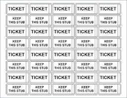 Template For Raffle Tickets To Print Free Print Raffle Tickets Template Voipersracing Co