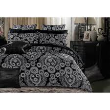 King Size Floral Black Grey Quilt Cover Set (3PCS)   VAST BUYS & King Size Floral Black Grey Quilt Cover Set (3PCS) Adamdwight.com