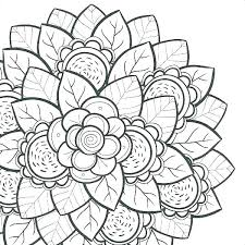 Simple Flower Coloring Pages Flowers Sheet Page More Mandala
