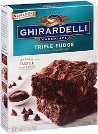 Ghirardelli Chocolate Triple Fudge Brownie Mix 19 Ounce