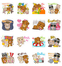 Krungsri Bear: Happy New Year 2019 | Sticker for LINE & WhatsApp ...