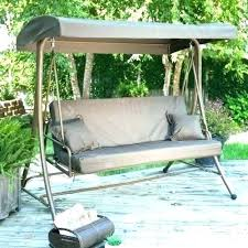 outdoor swing with canopy patio glider incredible charming wooden hammock for replacement