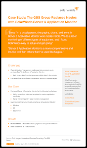 Solarwinds System Management Case Study The Gbs Group