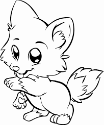 Kids love coloring cats, dogs, horses, dinosaurs, dolphins, ducks, birds, insects such as tons of free drawings to color in our collection of printable coloring pages! Anime Animal Coloring Pages New Kawaii Animal Coloring Pages At Getdrawings Meriwer Coloring
