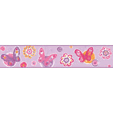 Flower Wall Paper Border Cool Kids Ks2252bd Butterfly Floral Wallpaper Border Wallpaper