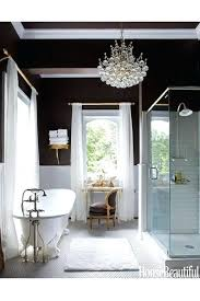 bathroom crystal chandelier from chandeliers to mirrored vanities these bathrooms are fit for a star