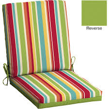 mainstays outdoor patio reversible dining chair cushion multi stripe com