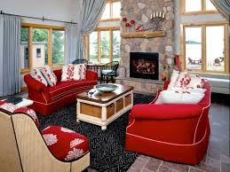 red sofa as the most fitting piece of