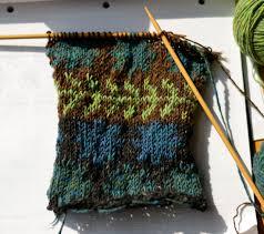 Rowan Fine Tweed Colour Chart Pattern No Idle Han