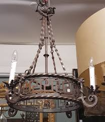 a french wrought iron chandelier