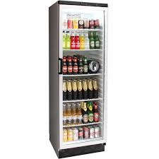 vestfrost commercial bar fridge with glass door and lock 381litre model fkg 371