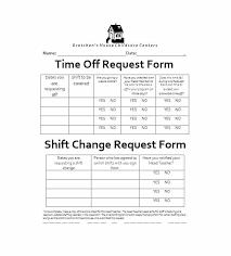 Request For Time Off Form Sample Rsenterprises Co