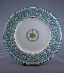 Wedgwood China Patterns Magnificent Wedgwood China Turquoise 'Florentine' Dinner Plates Set Of 48