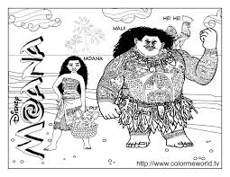 Moana Coloring Pages Free Color Bros
