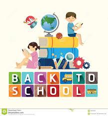 School Book Design Ideas Back To School Design Education Idea Vector Illustration
