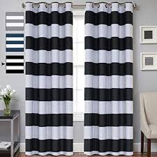 Black living room curtains Nepinetwork Striped Curtain Room Darkening Grommet Unlined Window Curtains Set Of Two Panels Thermal Insulated Blackout Amazoncom Amazoncom Striped Curtain Room Darkening Grommet Unlined Window