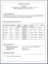 It Fresher Resume Format In Word Pertaining To Formats For Freshers