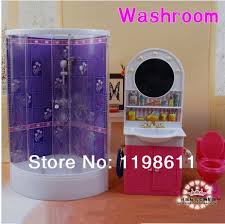 free shipping best girls gifts diy accessories bathroom washing room doll furniture doll accessories for barbie barbie doll furniture diy