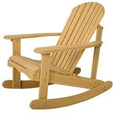 wooden rocking chair. Amazon.com : Giantex Adirondack Chair Outdoor Natural Fir Wood Rocking Patio Deck Garden Furniture \u0026 Wooden