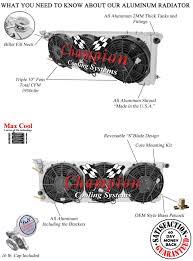1991 2001 jeep cherokee 3 row champion aluminum radiator fan will cool up to 650 hp
