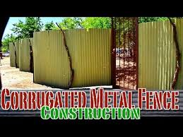 how to build sheet metal fence. Contemporary How Corrugated Metal Privacy Fence Construction On How To Build Sheet