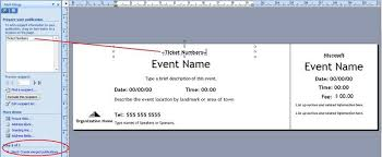 Free Meal Ticket Template Extraordinary How To Generate Sequentially Numbered Documents Using Publisher