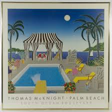 thomas mcknight american b 1941 palm beach print