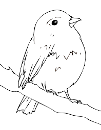 Small Picture Robin Coloring Page Handipoints